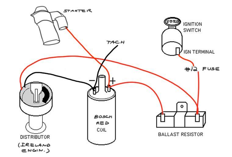 no brainer wiring question - ballast resistor -  u0026 39 02 general discussion