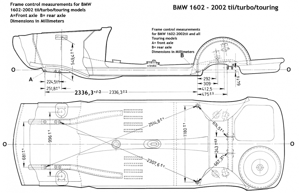 Frame Measurement - Body and Interior - BMW 2002 FAQ