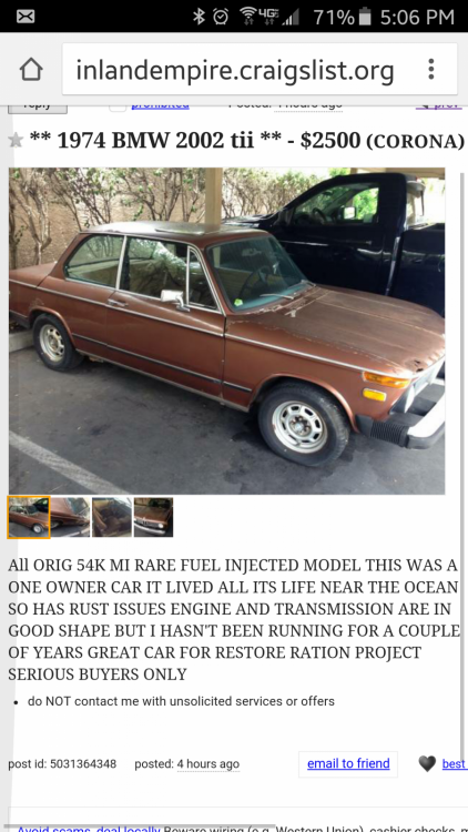 Craigslist Tii Cheap Not Mine Cars For Sale Bmw 2002 Faq