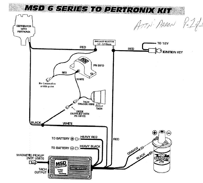 pertronix with msd wiring diagrams