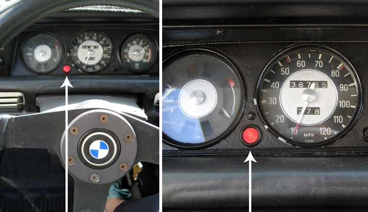 What Is This Red Round Dash Light Bmw 2002 General