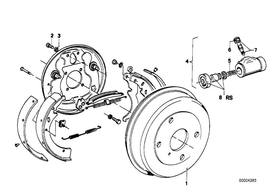 service manual  2004 bmw 525 brake drum structure installation