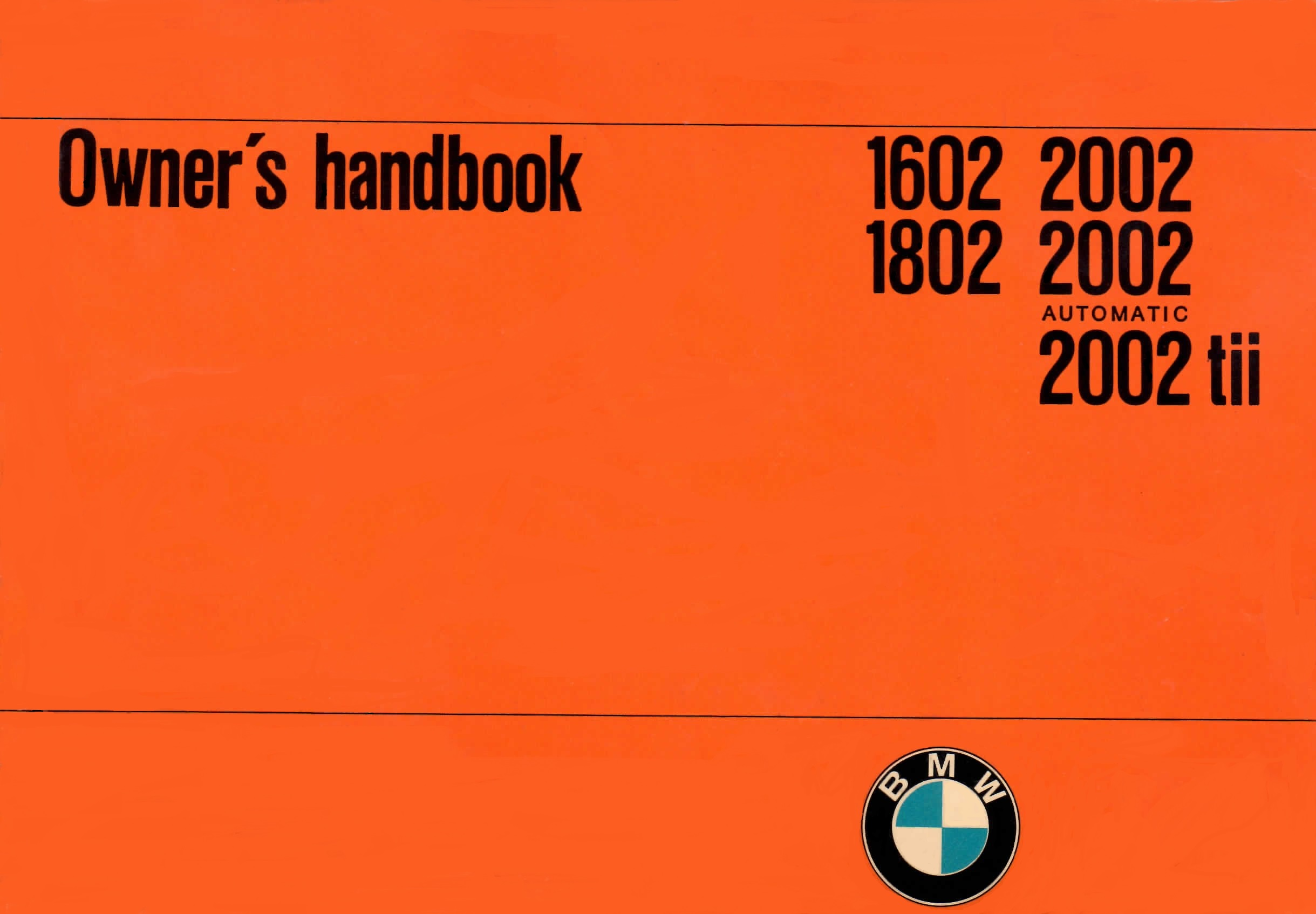 2002 owners manual history and reference bmw 2002 faq
