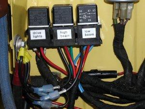 Early 12v BMW 2002 High and Low Beam Relay Wiring Directions