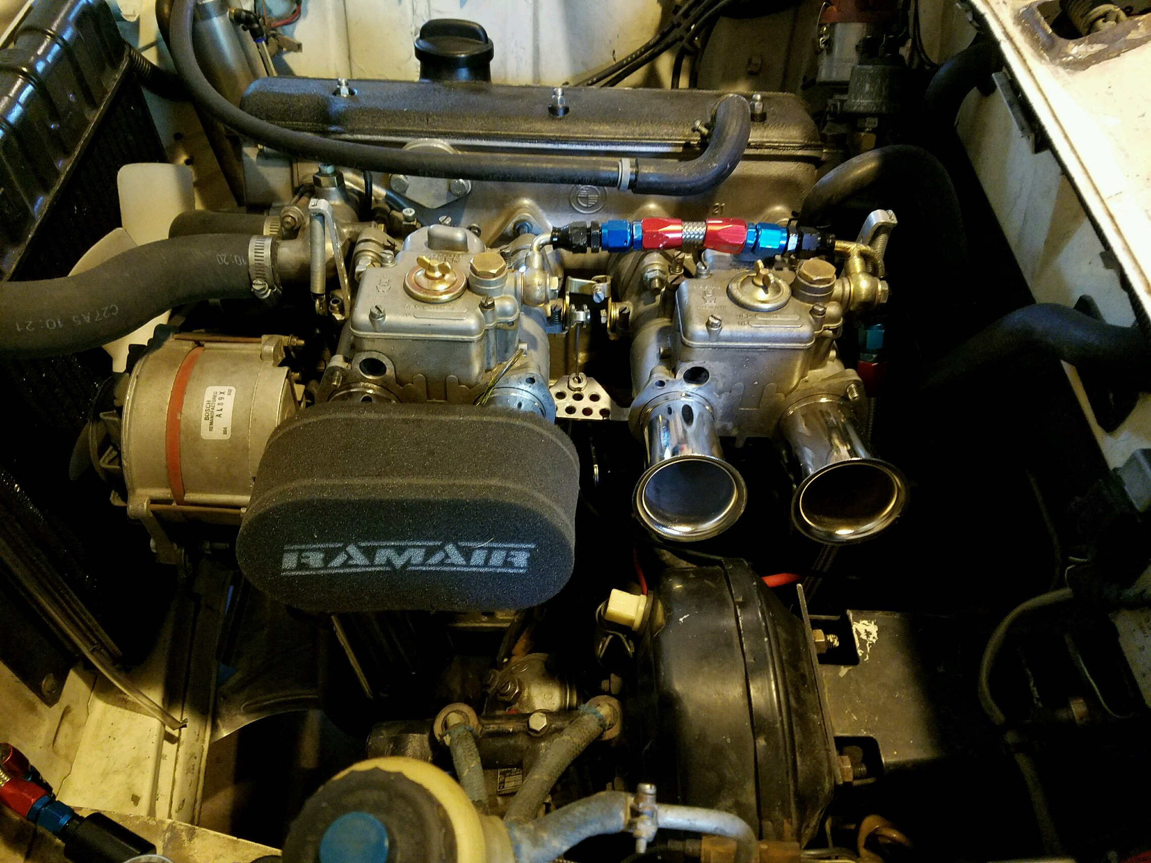 Pics) 40DCOEs with straight stacks and angled filters, stock booster ...