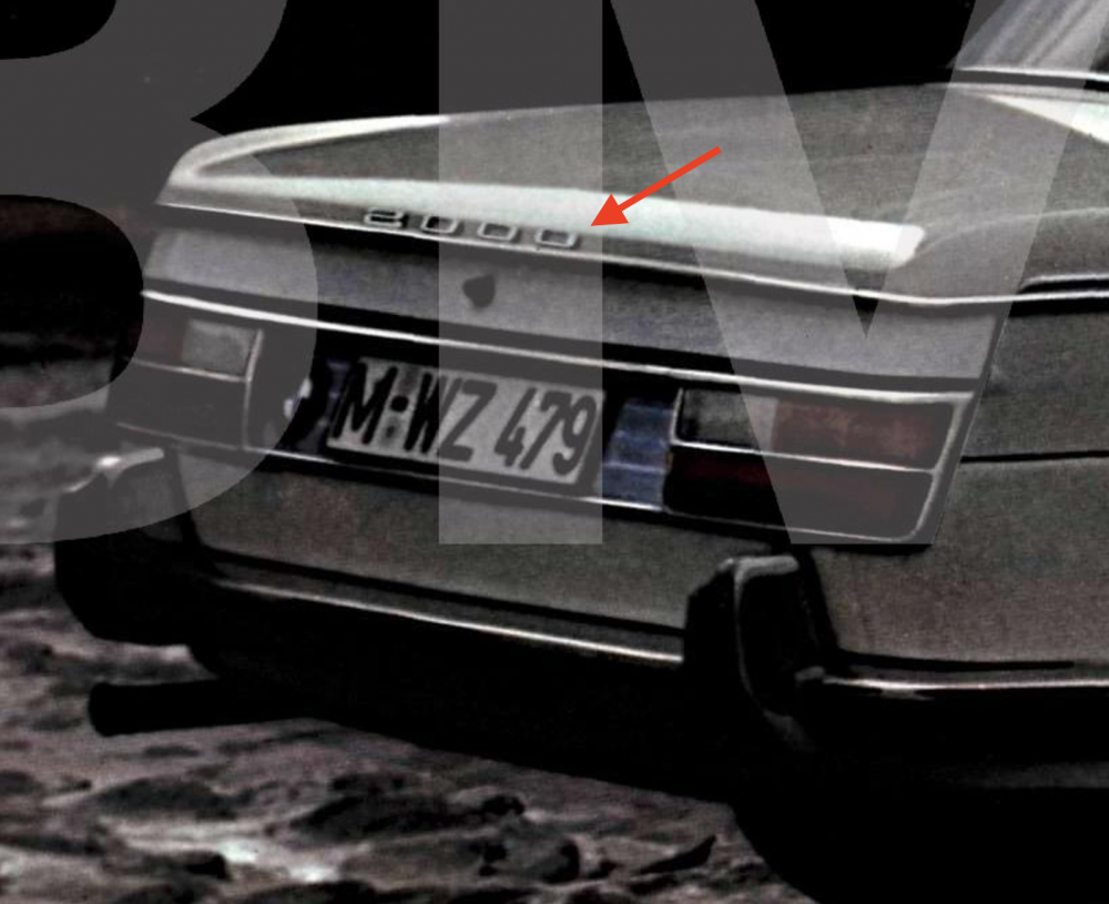 BMW 2000 Early Rear Model Designation.png