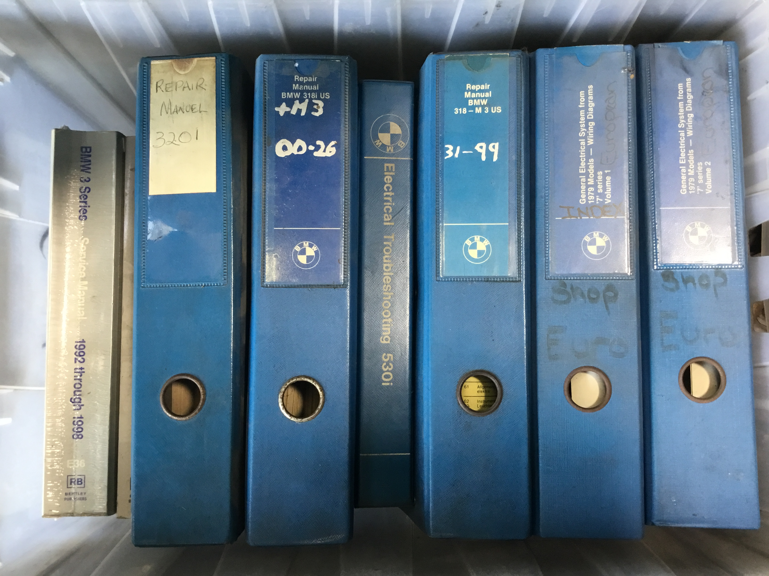 Factory Blue Books + Manuals (not 2002...) - BMW 2002 General ...