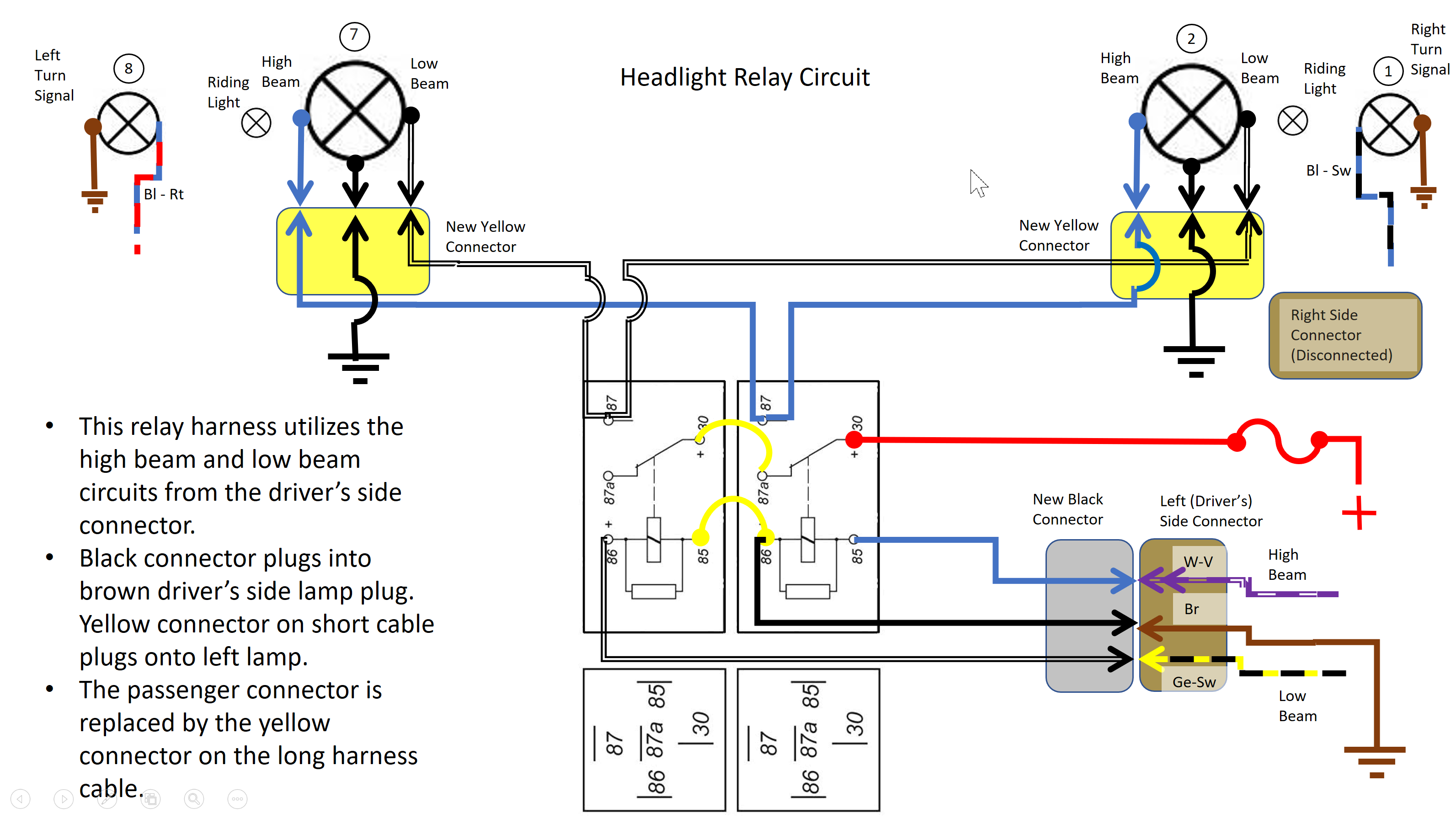 Headlight Relay Circuit Diagram Trusted Schematics H4 Wiring Relays How Many Hot Wires Bmw 2002 General Brake 2124753652 Headlightrelaycircuitdiagram Thumb