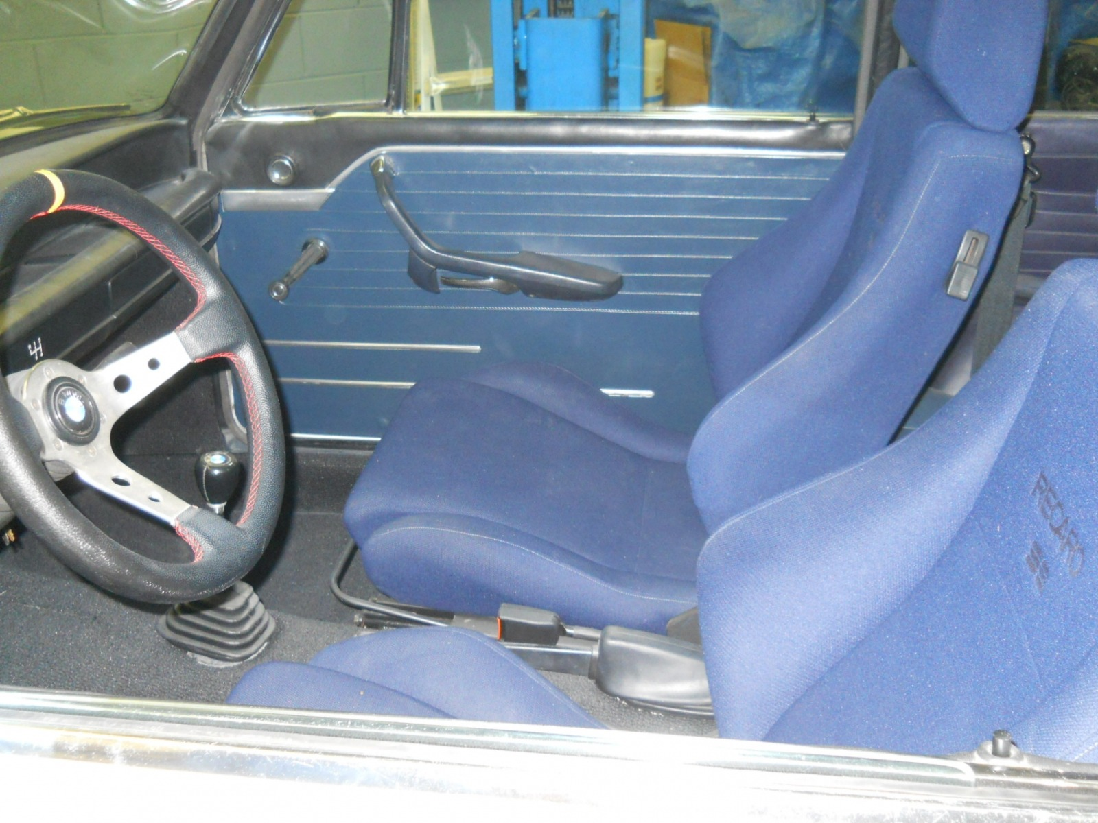 changed interior color to blue