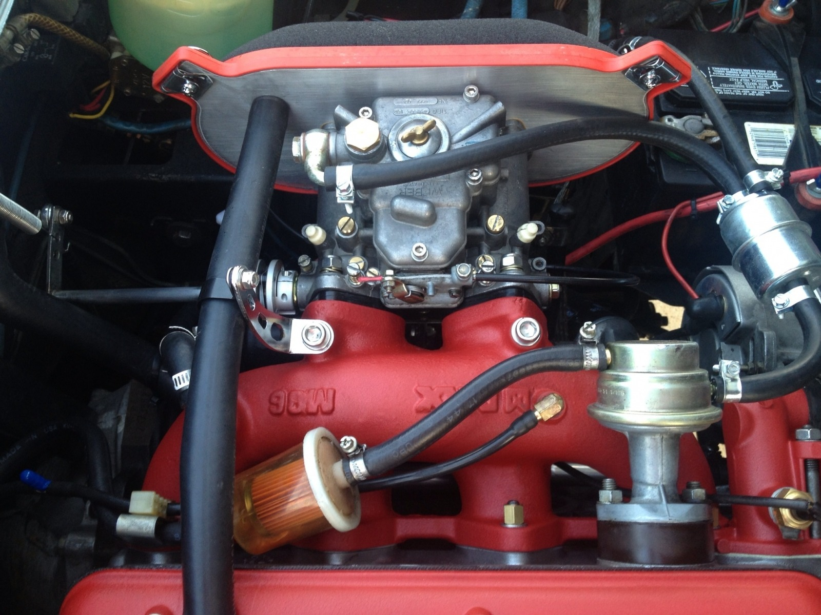 Conversion to Lynx with Weber 45 with modified throttle shaft