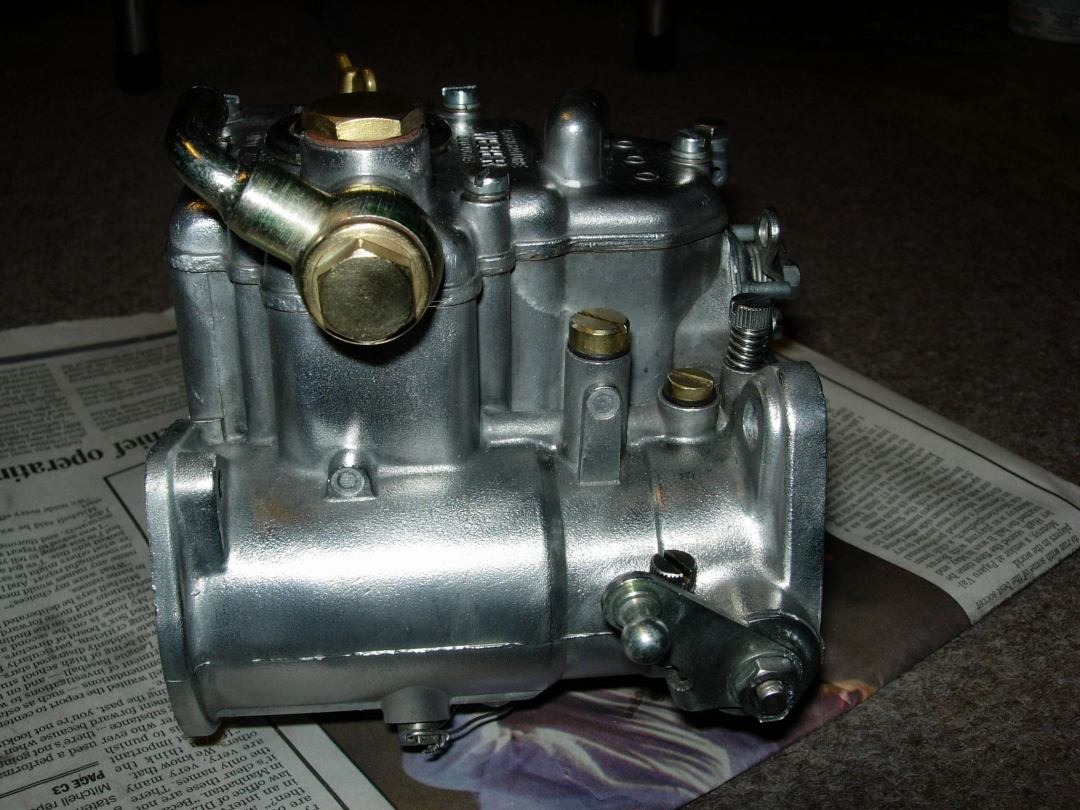 side of Weber DCOE 45 carb