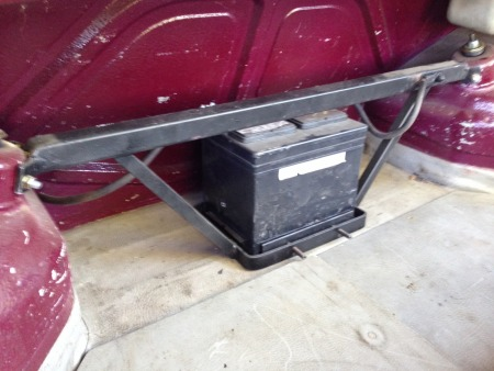 Battery relocation to the trunk