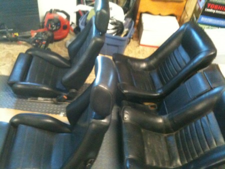 New seats front and back